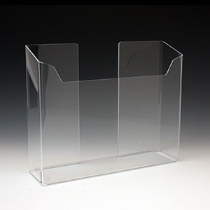 Acrylic Brochure Holder ABH-12103 for Brochures or Pamphlets up to 6.25 inches wide