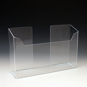 Acrylic Brochure Holder ABH-1283 for Brochures or Pamphlets up to 6.25 inches wide