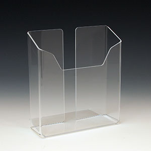 Acrylic Brochure Holder ABH-6702 for Brochures or Pamphlets up to 6.25 inches wide