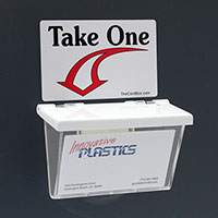 Card Box Take One Stickers