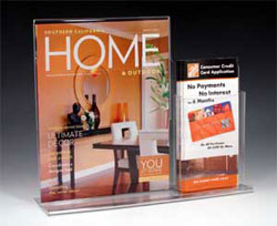 Combination display with one brochure pocket off to the side - Item#: CD-100