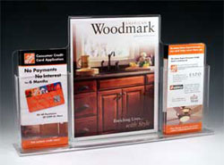 Combination display with two brochure pockets off the sides - Item#: CD-200