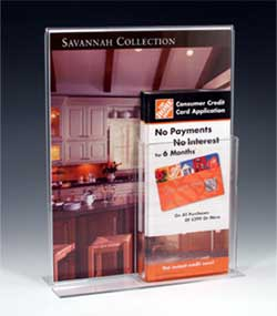 "8.5"" x 11"" sign holder with a brochure holder - Item#: CD-050"