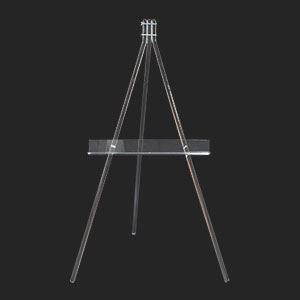Clear Acrylic Easels - Floor Standing Easels, Presentation Easels